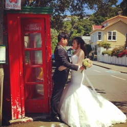 Iconic Telephone Booth Is A Common Place For Wedding Photos