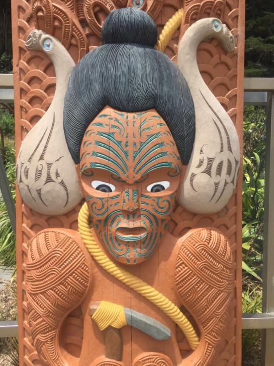 Carving Displaying Traditional Tē Moko