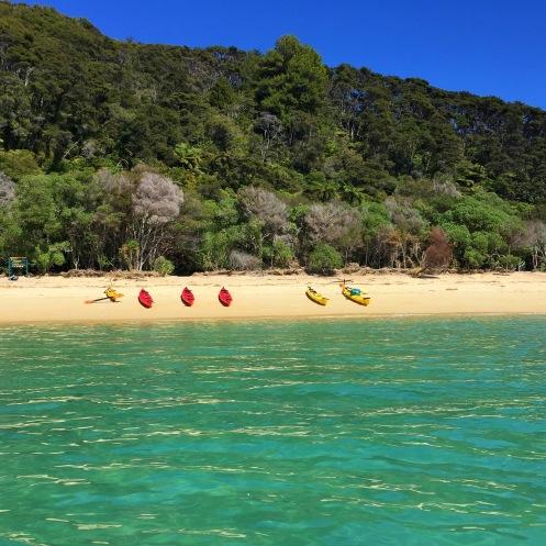 Beach jumping kayak style