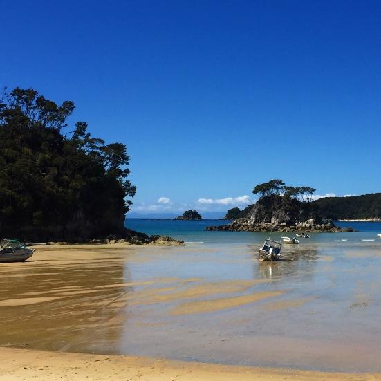 Low tide crossing at Torrent Bay