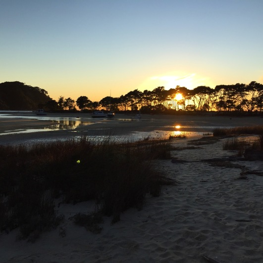 Bark Bay low tide at sunset