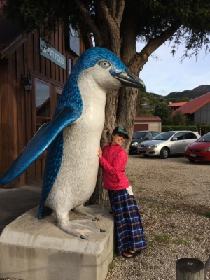 Blue penguin (not real and size exaggerated)