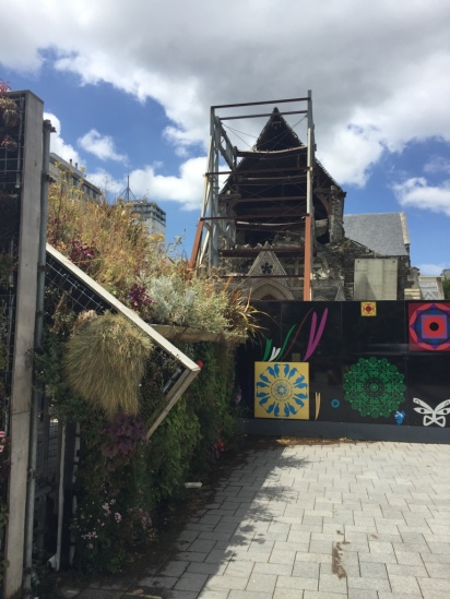 Badly damaged Christchurch Cathedral