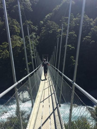 Swing bridge crossing fun
