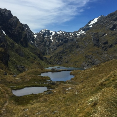 A trio of alpine lakes