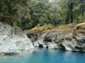 Bright blue coves