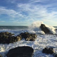 South coast rocky shoreline